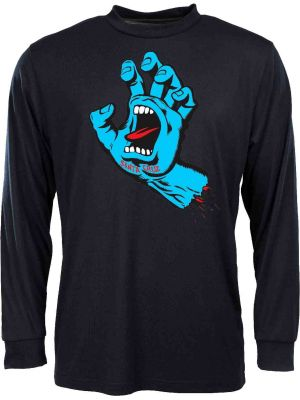 Tričko Santa Cruz Screaming Hand L/S black