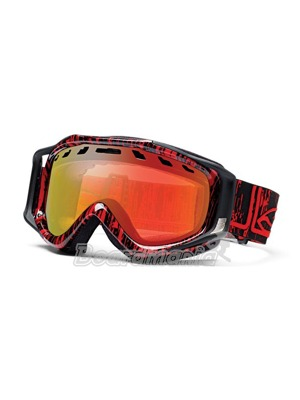 Brýle Smith Stance Black/Red Rise & Fall / Red Sol-X mirror