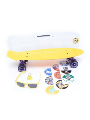 Skateboard Stereo Vinyl Plastic yellow/ raw/ trans purple