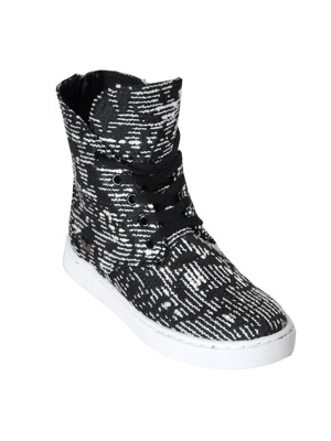Boty Supra Womens Joplin black/ pattern-white