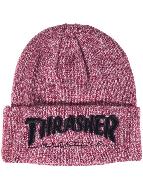 Kulich Thrasher Embroidered Logo heather maroon/ black z kategorie Kulichy, čepice zimní.