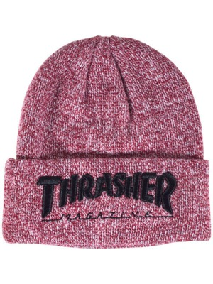 Kulich Thrasher Embroidered Logo heather maroon/ black