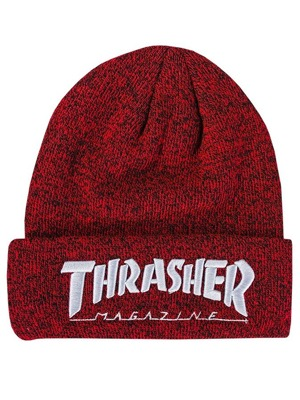 Kulich Thrasher Embroidered Logo heather red/ white