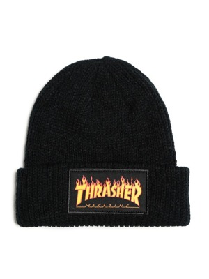 Kulich Thrasher Flame logo black