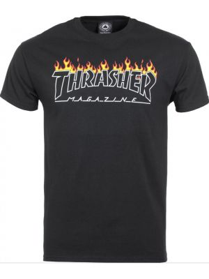 Tričko Thrasher Scorched Outline black