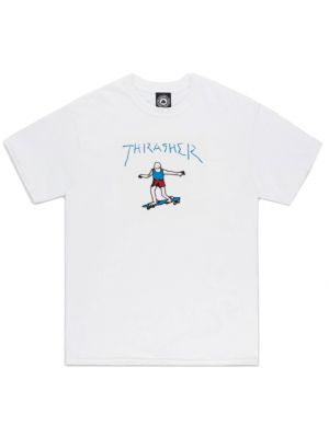 Tričko Thrasher Gonz white blue