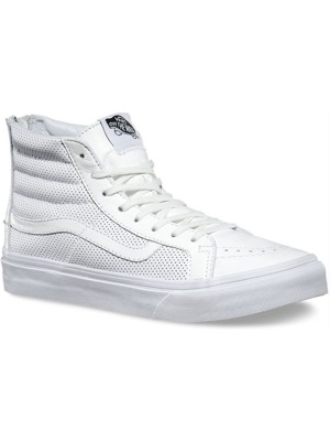 Boty Vans Sk8-Hi Slim Zip Perf Leather/True White