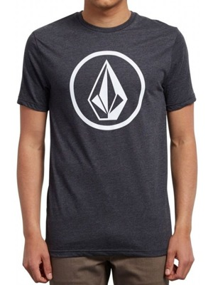 Tričko Volcom Circle Stone Hth Ss Heather Black