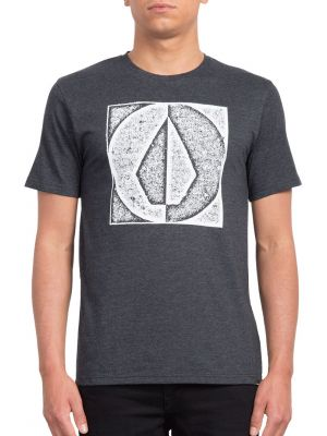 Tričko Volcom Stamp Divide Hth Heather Black