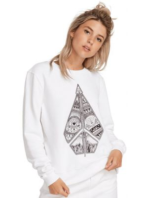 Mikina Volcom Sound Check Fleece White