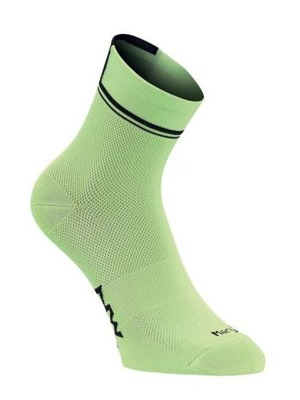 Ponožky Northwave Logo 2 Socks Lime Fluo/Black