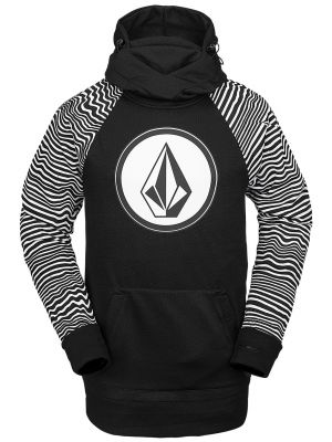 Mikina Volcom Hydro Riding Hoodie Black Stripe