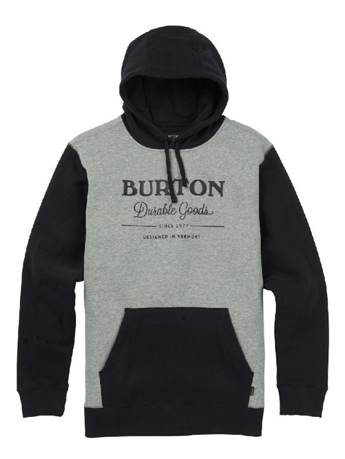 Pánská mikina Burton Durable goods true black / gray heather