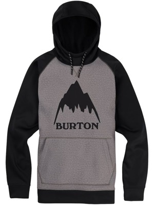 Pánská mikina Burton Crown Bonded monument heather / true black