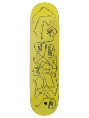 Skate deska Charge JU Skeletons yellow