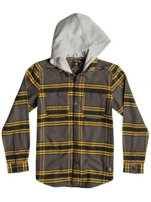 Pánská košile DC Hood Up Flannel heather grey yellow