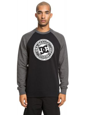 Mikina DC Circle Star Crew Charcoal Heather