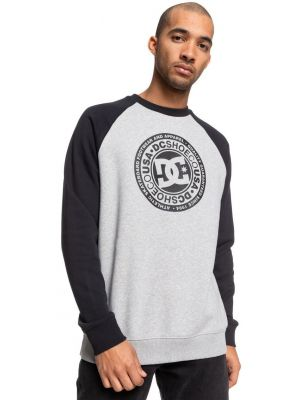 Mikina DC Circle Star Crew Raglan Grey Heather/Black