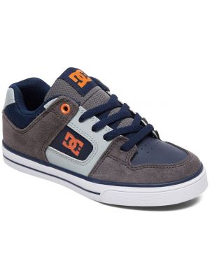 Boty DC Pure Boy Grey/Dark Navy