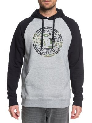Mikina DC Circle Star PH raglan grey heather black