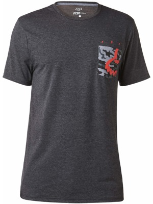 Pánské tričko Fox Eyecon Pocket Ss Tech Tee heather black