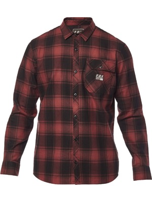 Košile Fox Voyd Flannel bordeaux