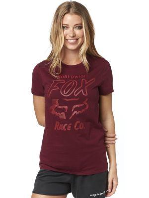 e26d02f3390 Dámské tričko Fox Worldwide Cranberry
