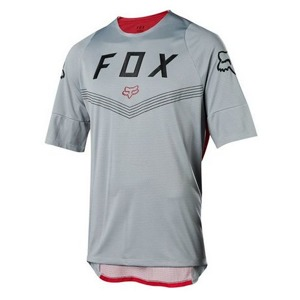 Cyklo dres Fox Defend S/S Fine Line Jersey Steel Grey