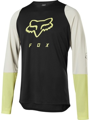 Cyklistický dres Fox Defend L/S Foxhead Jersey Black/Yellow