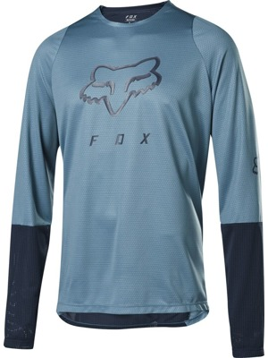 Cyklistický dres Fox Defend L/S Foxhead Jersey Light Blue