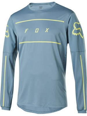 Cyklistický dres Fox Flexair L/S Fine Line Jersey Light Blue