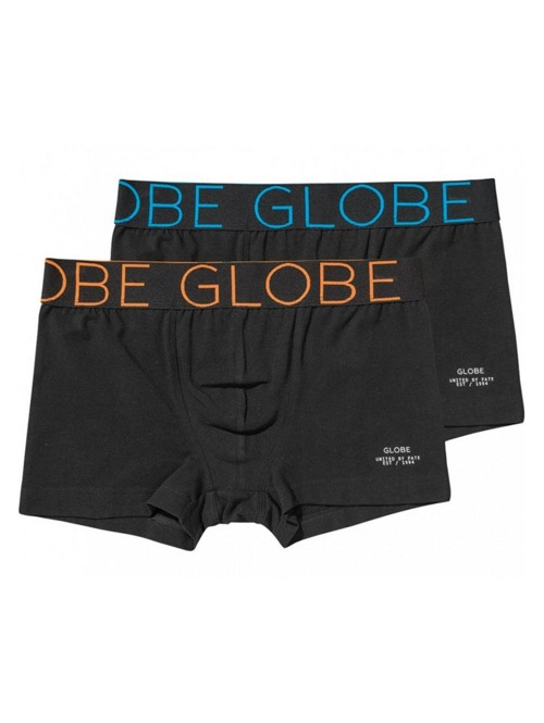 Boxerky Globe Lindros 2pack Jersey Brief black/black