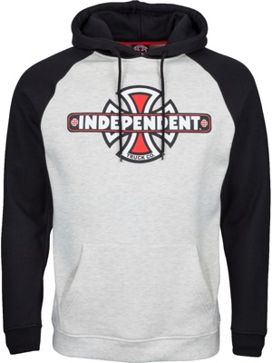 Pánská mikina Independent Vintage cross raglan black athletic heather