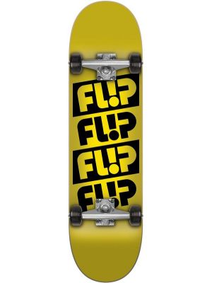 Skateboard Flip Team quattro odyssey yellow 7,88