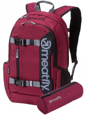 Batoh Meatfly Basejumper 5 heather burgundy black 20l