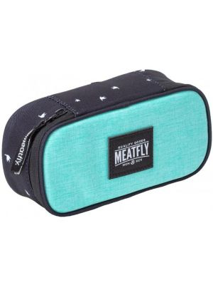 Školní penál Meatfly Pencil case ht. light mint birds black
