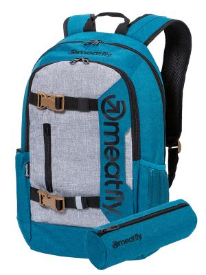 Batoh Meatfly Basejumper 6 Heather Petrol, Heather Grey 22l