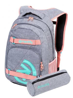 Batoh Meatfly Exile 5 Heather Grey, Pink 24l