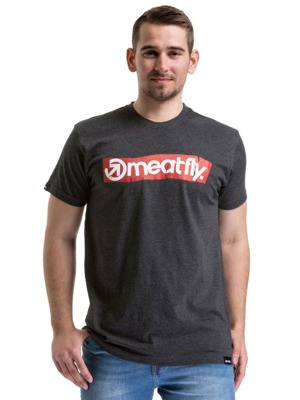 Tričko Meatfly Stomp heather charchoal