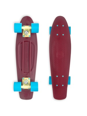Skateboard Baby Miller Old Is Cool wine red