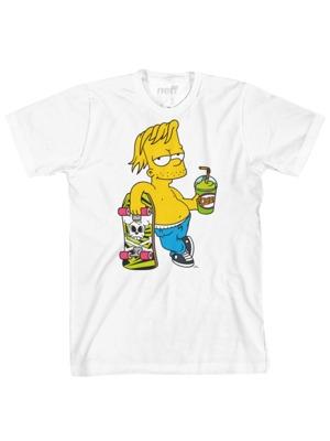 Pánské tričko Neff Chillin Simpsons white 2a1595df3b