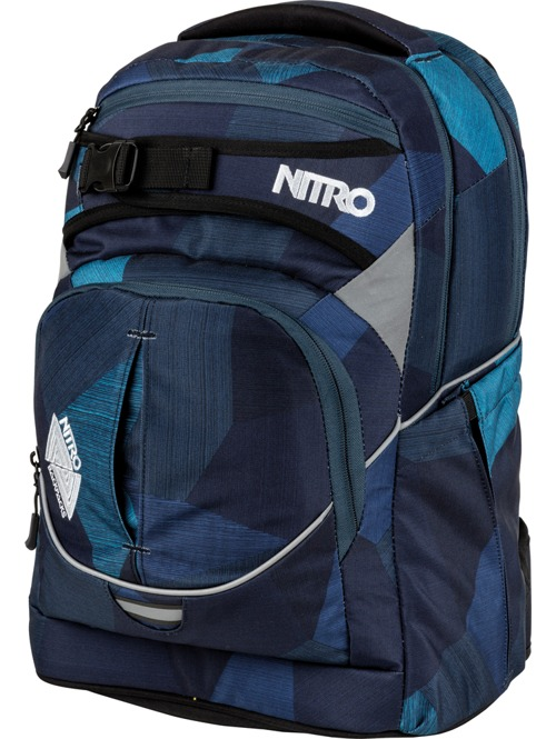 Batoh Nitro Superhero fragments blue 30l