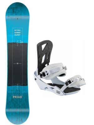 Snowboard set Nitro Prime 18/19 blue  wide