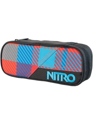Penál Nitro Pencil Case Plaid Red-Blue