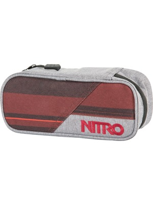 Penál Nitro Pencil Case Red Stripes