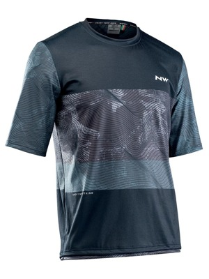Cyklo dres Northwave Xtrail S/S Jersey Black/Grey/White