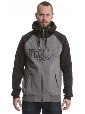 Mikina Nugget Trigger 3 heather light grey black