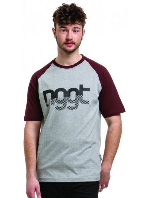 Tričko Nugget Asset 3 heather grey dark burgundy