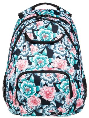 Batoh Roxy Shadow Swell anthracite s crystal flower 24l