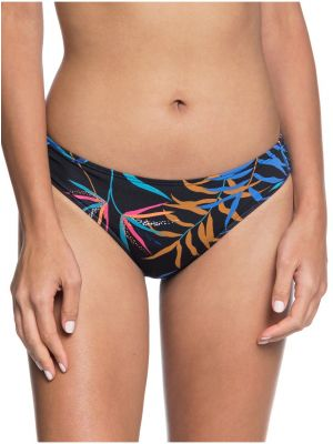 Plavky Roxy Lahaina Bay Reg Bottom anthracite wild leaves